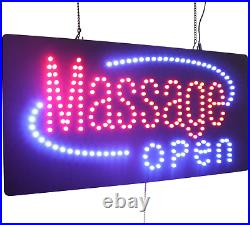 Massage Open Sign, Topking Signage, Led Neon Open, Store, Window, Shop, Business