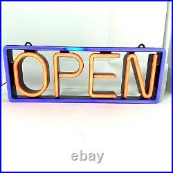 MyStiGlo LED Light Open Sign, Illuminated Store Sign 24.5L x 9H. Nice