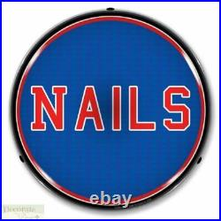 NAILS Sign 14 LED Light Store Business Advertise Made USA Lifetime Warranty