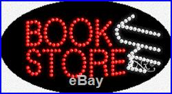 NEW BOOK STORE 27x15 OVAL SOLID/ANIMATED LED SIGN withCUSTOM OPTIONS 24090