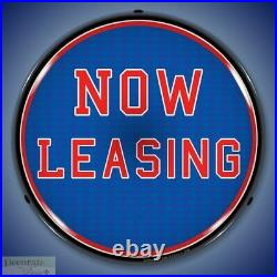 NOW LEASING Sign 14 LED Light Store Business Advertise Made USA Life Warranty