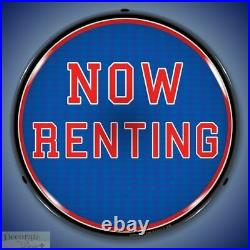 NOW RENTING Sign 14 LED Light Store Business Advertise Made USA Life Warranty