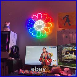 Neon Sign Flower LED Neon Light Party Bar Store Room Home Decor Wedding Birthday