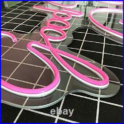 Neon Sign Good Vibes Only LED Pink Light Signs Store Apartment Bar Club 23x15