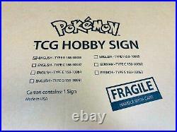 New Sealed Pokemon LED Light Up Retail Hobby Store Display Sign x1