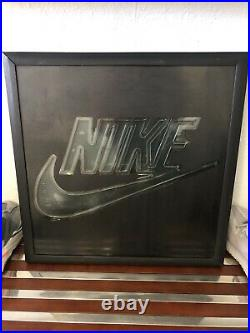 Nike Air Neon Store Window Sign Advertisement Vintage Rare Swoosh Man Cave Led