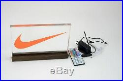Nike Swoosh LED Lighted Store Display Sign With Remote 20 colors to choose from