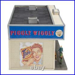 O Gauge Prelit LED Lighted Logo Sign 9 Figures Dog Mail Box Piggly Wiggly Store