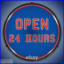 OPEN 24 HOURS Sign 14 LED Light Store Business Advertise Made USA Warranty New