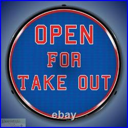 OPEN FOR TAKE OUT Sign 14 LED Light Store Business Advertise Made USA Warranty