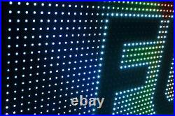 OPEN LED SIGNS BUSINESS SHOP STORE 19 x 63 STILL SCROLLING TEXT DISPLAY
