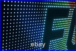 OPEN NEON STORE SHOP BILLBOARD LED SIGNS 13 x 63 MULTI-COLOR TEXT DISPLAY