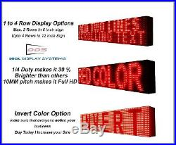 OUTDOOR 7 x 88 VERY BRIGHT RED PROGRAMMABLE INCREASE BUSINESS LED STORE SIGN
