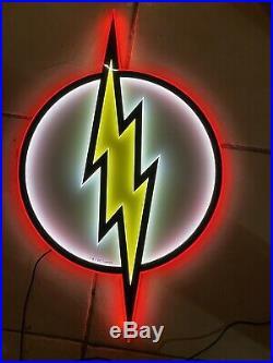 Official DC Comics The Flash 1 Per Store Retailer Exclusive LED Sign 15x25! RARE
