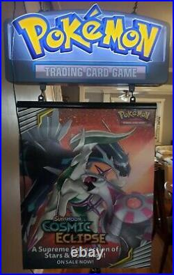Officially Licensed Pokemon LED Light Up Glass Retail Store Display Sign