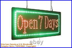 Open 7 Days Sign Neon Sign LED Open Sign Store Sign Business Sign Window Sign