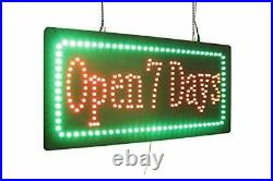 Open 7 Days Sign, Signage, LED Neon Open, Store, Window, Shop, Business