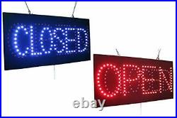 Open Closed Sign, Signage, LED Neon Open, Store, Window, Shop, Business