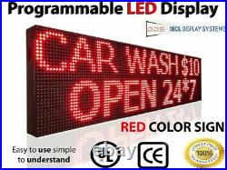 Open Led Signs Digital Red Billboard 12 X 76 Window Store Shop Display