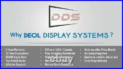Open Neon Digital Led Sign 7 X 75 Store Shop Still Scrolling Text Display