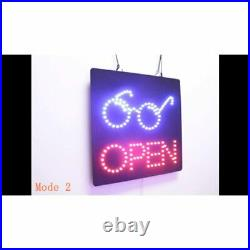 Open With Eyeglasses Sign, Signage, LED Neon Open, Store, Window, Shop, Display