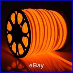 Orange 150' LED Neon Rope Light Home KTV Bar Store DIY Sign Decor 110V Outdoor