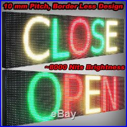 Outdoor 25 x 38 Digital Shop Store Bar Tri Color Led Sign Scrolling Text Logo