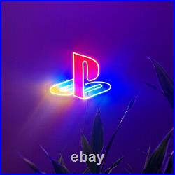 PS Logo LED Neon Wall Sign Light For Pub Bar Store decor Party Display 16x12