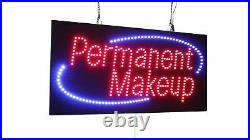 Permanent Makeup Sign, TOPKING Signage, LED Neon Open, Store, Window, Shop, B
