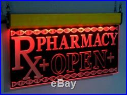 Pharmacy Rx Open LED Sign Neon Light Medical Shop Display Large Drug Store H008