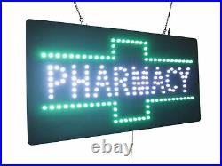 Pharmacy Sign, TOPKING Signage, LED Neon Open, Store, Window, Shop, Business