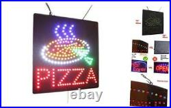 Pizza Sign, Signage, LED Neon Open, Store, Window, Shop, Business, Display