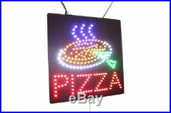 Pizza Sign TOPKING Signage LED Neon Open Store Window Shop Business Display G