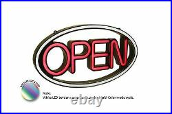 Pro-Lite Super Bright LED Multi-Color Business Store Window Open Sign, 23 W
