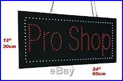 Pro Shop Sign, TOPKING Signage, LED Neon Open, Store, Window, Shop, Business, Display