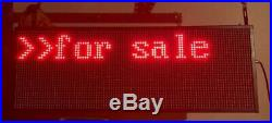 Programmable LED Scrolling Display Sign Multicolored Advertising Store Electric