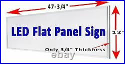 Quality Cgars 48x12 LED window sign retail store advertising signs
