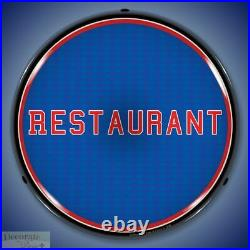 RESTAURANT Sign 14 LED Light Store Business Advertise Made in USA Life Warranty