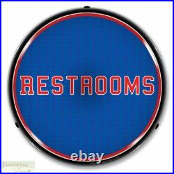 RESTROOMS Sign 14 LED Light Store Business Advertise Made USA Lifetime Warranty