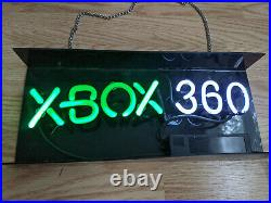 Rare Kb Toys Xbox 360 Neon Led Sign Store Display Works Microsoft