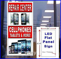 Repair Center Cell Phone Tablets & More 48x24 Led Window Sign retail store