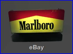 SCARCE 1995 Marlboro Lighted Cigarette Store Display Sign With LED Moving Message