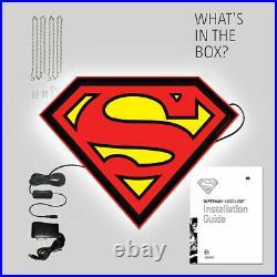SUPERMAN DC LOGO LIGHT Large LED 25 Store Display Comic Sign by BRANDLITE