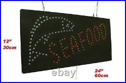Seafood Sign Neon Sign LED Open Sign Store Sign Business Sign Window Sign