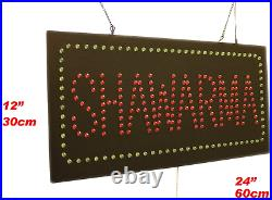 Shawarma Sign, TOPKING Signage, LED Neon Open, Store, Window, Shop, Business