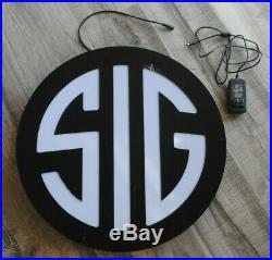 Sig Sauer LED Sign Light-Up Lighted Gun Store Shop Show STILL IN PLASTIC WRAP