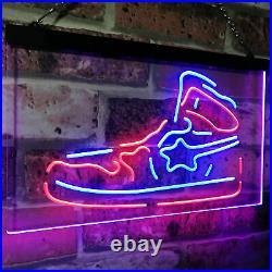 Sneaker Shoe Sport Running Store Shop Bar Dual Color Led Neon Sign st6-i3071
