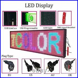 Store LED Signs 7 Color Programmable Scrolling Led Sign 39x14 High Brightness