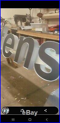 Store front sign, Illuminated Channel Letters Mortenson in 3M dual color