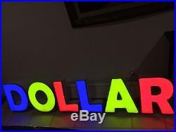 Store sign Dollar store DOLLAR sign full led light up